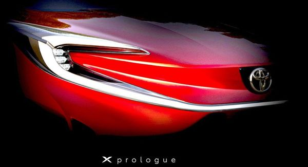 "Toyota has teased its first EV ""X-Prologue"""