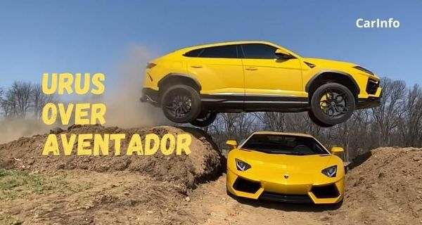 This YouTuber jumped Lamborghini Urus over Aventador